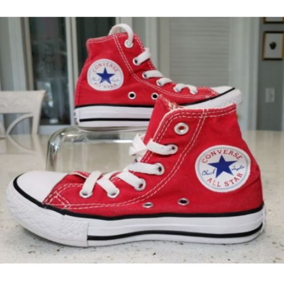 Converse Other - Converse Chuck Taylor All Star Youth Red High Top